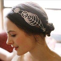 Wholesale 2017 Vintage Bridal Tiara Hair Crown Headband Boho Crystal Wedding Accessories For Hair Vintage Bridal Headpieces In Stock