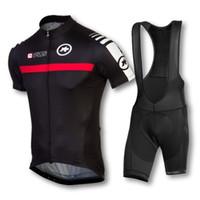 Short clothing new jersey - 2015 NEW Assos men cycling jersey clothing set short sleeve jacket bib gel pad shorts kit summer bicycle sport