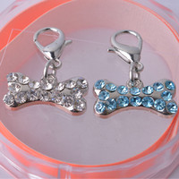 Wholesale Personalized Dog Accessories Rhinestone Jewelry Bone Shaped Collar Charm Products For Animals