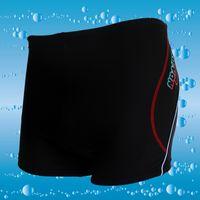 Cheap Wholesale-Genuine men's swimming trunks of men's printing pressure line five nylon boxer trunks boys swimming Costume XL
