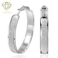 Wholesale Silver Hoop Earrings New Arrival High Quality Silver Plated Jewelry Insets Stone Circle Series Earrings for Women Party