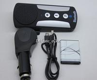 Wholesale Bluetooth In Car Speakerphone Sun Visor Bluetooth Car Kit Handsfree Wireless Multipoint Voice Prompt w Cigarette Lighter Adapter