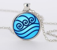 avatar copper alloys - Avatar the Last Airbender necklace Legend of Korra Water Tribe Glass Pendant Jewelry silver pendants for men CN