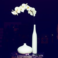 Wholesale Romantic Porcelain Vase Set All White Ceramic Home Decoration Indoor Ornaments order lt no track