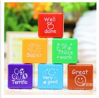 stamps - Colorful Stamps Teachers Stampers Self Inking Praise Reward Stamps Motivation Sticker School Kids Gifts Toys High Quality Stamps