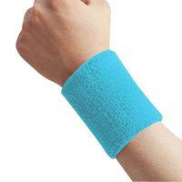 Wholesale 1 Unisex Cotton Sweat Band Sweatband Wristband Arm Band Basketball Tennis Gym Yoga