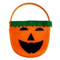 Halloween pumpkin - Halloween Trick or Treat Pumpkin Candy Bag Basket Cute Non woven Pumpkin Bag Handheld pumpkin bag for children