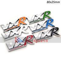Wholesale 100pcs Chrome VXR Blur Red Green White Black ABS Boot Car Sticker Emblem Badges MIX DHLfree
