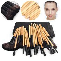 best kabuki brush - Vander Soft Makeup Brushes Set Brown Color Pinceaux Maquillage Beauty Brushes Best Gift Kabuki Brush Set Kit Pouch Bag