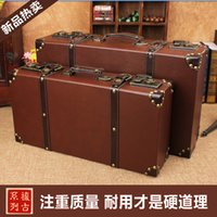 antique wooden trunks - Explosion models retro British style portable wooden trunk antique wooden box decorated window display props shooting