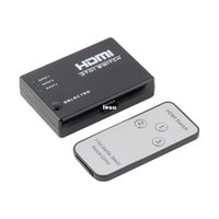 Wholesale 3 Port P Video HDMI Switch Switcher Splitter IR Remote For HDTV PS3 DVD Worldwide