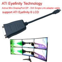Wholesale ATI Eyefinity Active Mini DisplayPort to DVI cable Mini DP to DVI adapter cable support ATI Eyefinity LCD support LCD