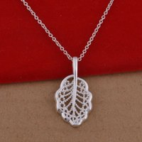 Cheap Trade jewelry wholesale 925 sterling silver necklaces necklace Korean pop hollow leaves a lot of cash