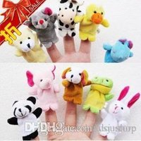 Wholesale Retail Baby Plush Toy Finger Puppets Talking Props animal group set