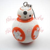 Wholesale New Star Wars The Force Awakens BB8 BB Droid Robot Action Figure Pendant2 quot