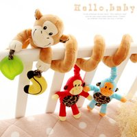 Wholesale New Infant Elephant Bell Toys Mobile Baby Plush Animal Bed Wind Chimes Rattles Bell Toy Stroller for Newborn Best Gift For Kids