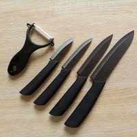 ceramic knives - Cool Matt Black Ceramic Knife Peeler Set quot quot quot quot Chef Paring Fruit Utility Black Blade Set by Meow