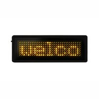 led display board - Mini LED Display LED Display Board Yellow Character LED Message Board Support Different Languages With Battery Many Functions B729TY
