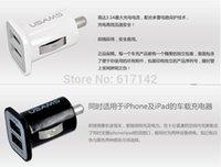 alloy adaptors - USAMS Dual Usb Car Charger In in Aluminium Alloy Car Adaptor for iphone ipad air mini Galxy S5 Note mobile