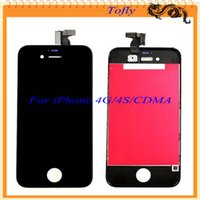 Wholesale 2015 For iPhone CDMA S Lcd Display Touch Screen Digitizer Assembly Replacement Repair Parts For iPhone S White Black