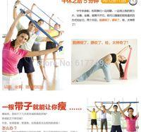 Wholesale New Exercise Fitness Yoga Belt Tension Belt Shaping Slimming Yoga Belt Tension With Yoga Elastic MM Crossfit order lt no tr