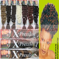 Wholesale hair extension braid G quot xpression Ultra Braid Jumbo Braids Synthetic x pression hair colors available