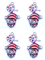 alice necklace - New Alice in Wonderland Cheshire Cat Metal Charm pendants Jewelry Making Party Gifts KA100