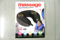Wholesale with mp3 music pillow softly portable travel use Pillow electric U shaped cushion cervical vibration massager neck relax pillows
