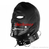 Wholesale New Bondage PVC Gimp Fetish Bondage Hood Sex Hoods Sex Headgear Mask SM010