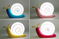 Wholesale Creative Snail Lamp Night Light USB Rechargeable LED Lamp Lovely Kid s Wall Lamp