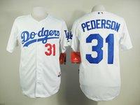 xxxl size - 2015 New Baseball Jerseys LA Dodgers Pederson Jersey White Gray Color Stitched Size M XXXL Mix Order