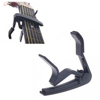 Wholesale Sliver Black Quick Change Clamp Key Capo For Electric Guitar Guitarra Parts Accessories