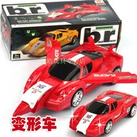 Wholesale Electric universal deformation of the car racing buggies electric toy airplane model toy