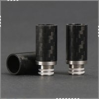 boring - Carbon Fiber Drip Tips Flat Wide Bore Drip Tip EGO Atomizer Mouthpieces for RDA Atomizer Carbon Firber Mechanical Mod DHL Free