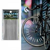 bike reflectors - 60pcs Reflective Mount Clip Tube Warning Strip Bicycle bike Wheel Spoke Reflector Brand New
