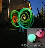 Wholesale LED Hand Props Hot selling women led poi thrown balls for accessories hand belly dance props on sale LJJH504
