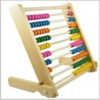 abacus for kids - Wooden Abacus Educational Toy for Kids Beads Color Yellow Green Orange Blue Shocking Pink