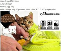 Wholesale Multifunctional cat Grooming bag cat bags bath bags fitted mesh bag cat clean pet supplies
