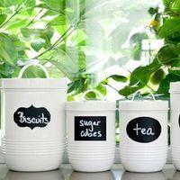Wholesale 40 cm Kitchen Tools New Cute Chalkboard Sticker Labels PVC Kitchen Pantry Organizing Home Sticker New Design
