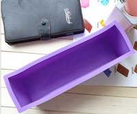 Wholesale Hot Sale Rectangle Brick Soap Pastry Toast Bread Loaf Cake Silicone Mold Bakeware L New