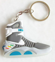 pvc air the ring - NEW SNEAKER AIR MAG D SHOES Back To The Future II Keychain PVC Key Chain Ring Holder KeyRing Llaveros Chaveiro shoes
