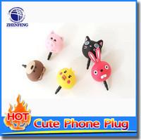 Wholesale Rabbit Pig Duck Cat Bear Design Dust Plug mm Earphones Jacinths Mobile Phone Dust Plug Gifts