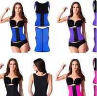 Wholesale Shoulder Straps Waist Trainers Latex Sport Waist Cincher Vest Rubber Steel Boned Waist Trainer Corset Shapewear