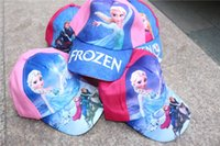 Wholesale Hot Sale Childrens Frozen Ear Muff Hats Baby Baseball Cap Baby Hats Kids Pretty Elsa Sun Caps Girls snapback hats Caps Cartoon
