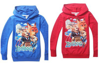 Wholesale 100pcs new arrive zootopia kids boys girls jacket hoody clothing baby long sleeve sweatshirts D592