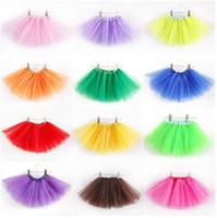 party costumes - Baby TuTu Skirts pettiskirt girls skirts for kids Chiffon Ruffles skirts Girls Kids Tutu Party Ballet Dance Wear Skirt Pettiskirt Costume