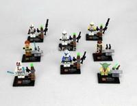 building products - Star Wars Yoda Han Solo Obi Wan Kenobi Clone Trooper Building Blocks Minifigure DIY BricksToys set