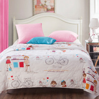 beautiful comforter sets - cotton comforter set girl x200cm x230cm Winter amp Spring amp Summer quilt Bicycle beautiful fashion
