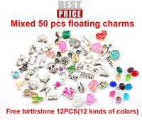 bulk charms - Assorted Mixed floating charms with free birthstone for Living Memory Locket bulk charms sample order