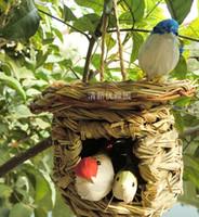 Wholesale Pet supplies Bird supplies Rattan bird cage gaiolas decorativas bird feeder decorative cages garden ornaments home decor jaula parrot cage